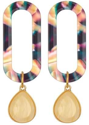 BaubleBar Tereza Resin Hoop Earrings