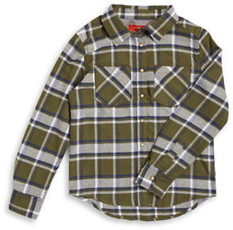 Butter Girls 7-16 Flannel Studded Blouse $58 thestylecure.com