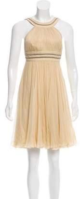 Versace Silk Chiffon Pleated Dress