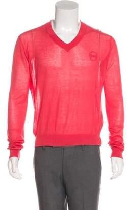 Viktor & Rolf Knit V-Neck Sweater