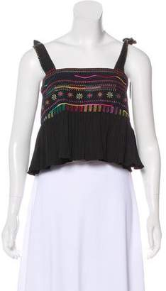 Saloni Embroidered Crop Top