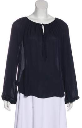 L'Agence Silk Long Sleeve Blouse