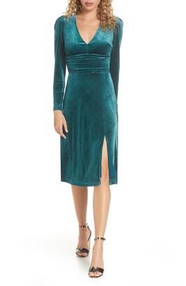 Ali & Jay I'm Nominated Long Sleeve Velvet Dress