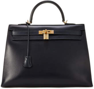 Hermes Vintage Kelly 35 Chevre Satchel Bag