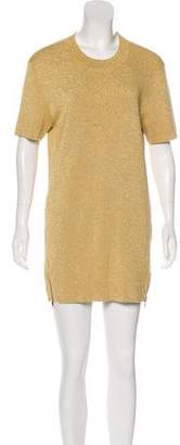 Neil Barrett Metallic Knit Top