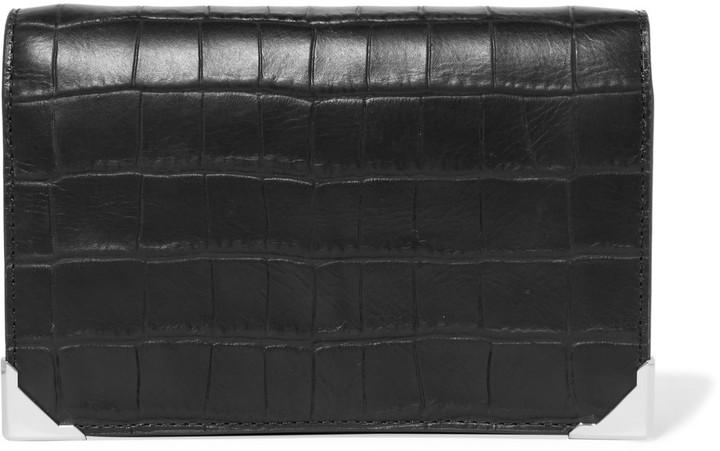 Alexander WangAlexander Wang Prisma croc-effect leather clutch