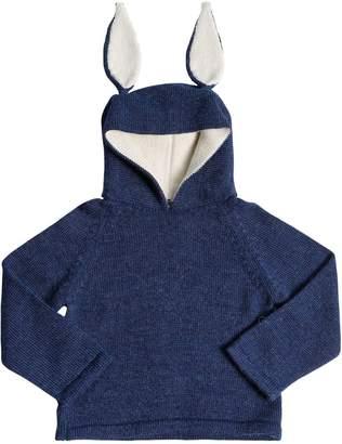 Oeuf Bunny Hooded Baby Alpaca Knit Sweater