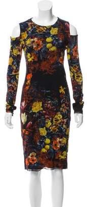 Jean Paul Gaultier Soleil Floral Cold Shoulder Dress