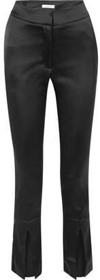 Beaufille - Lenae Satin Slim-leg Pants - Black