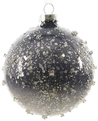 Asstd National Brand Set of 3 Winter Light Ombre Periwinkle Beaded Glass Christmas Ball Ornaments 3 (80mm)