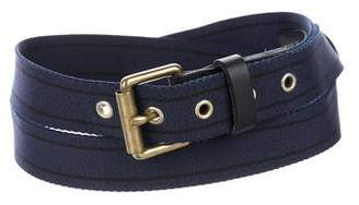 Rag & Bone Leather-Trimmed Belt