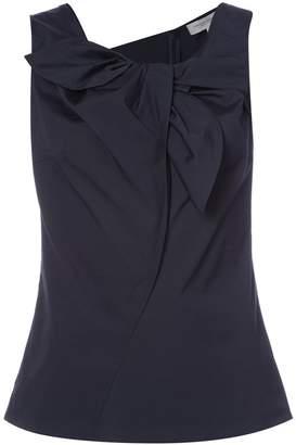 Carolina Herrera sleeveless blouse with front ruffle detail