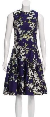 Oscar de la Renta Floral Silk Dress