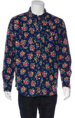 Engineered Garments Floral Printed Button-Up Shirt