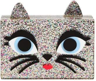 Karl Lagerfeld Choupette Glittered Pvc Box Clutch