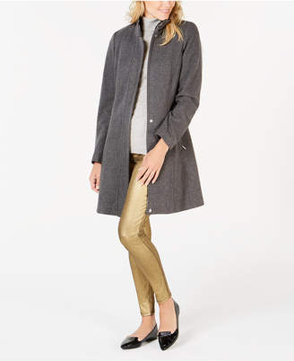 Calvin Klein Petite Stand-Collar Walker Coat