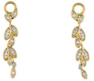 Jude Frances 18K Diamond Leaf Earring Enhancers
