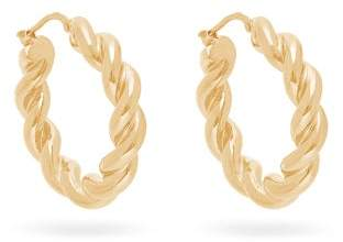 J.W.Anderson Twisted Hoop Earrings - Womens - Gold