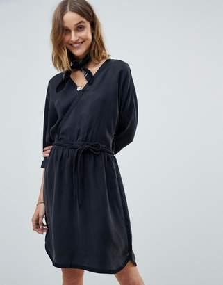 Maison Scotch Kimono Inspired Wrap Dress