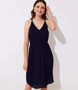 LOFT Petite Strappy Cami Dress
