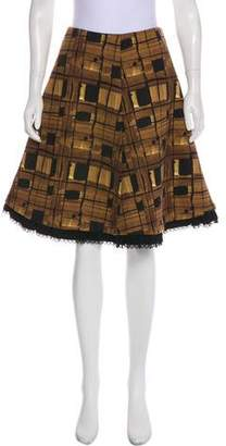 Prada Plaid Knee-Length Skirt