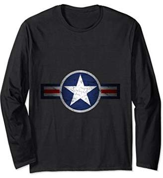 Vintage Army Air Corps Patriotic Star Long Sleeve