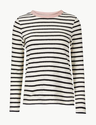 Marks and Spencer PETITE Pure Cotton Striped Sweatshirt