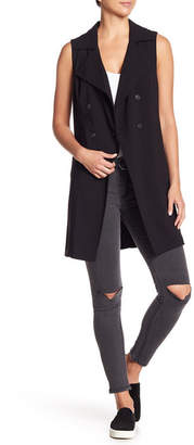 Kensie Drape Collar Double Breasted Vest
