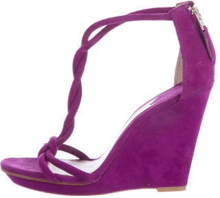 Brian Atwood T-Strap Wedge Sandals $125 thestylecure.com