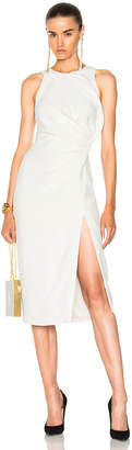 Cushnie Sleeveless Dress with Crossover Detail