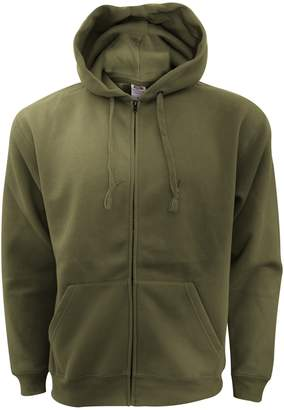 Fruit of the Loom Mens Zip Through Hooded Sweatshirt / Hoodie (XL)