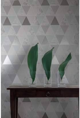 At Debenhams Graham Brown Mint Reflections Geometric Wallpaper
