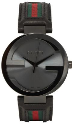 Gucci Black Interlocking Watch