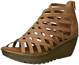 Skechers Women's Parallel-Dream Queen-Caged Open Toe Wedge Sandal