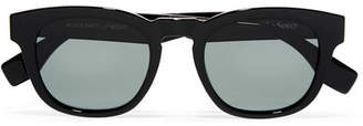 Le Specs Block Party Square-frame Acetate Sunglasses - Black