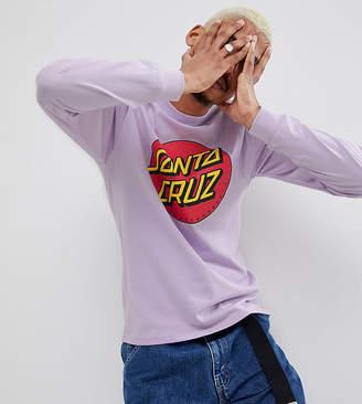 Santa Cruz Classic Dot Long Sleeve T-Shirt In Lilac Exclusive To ASOS