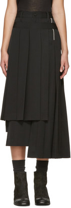 Yohji Yamamoto Black Pleated Wrap Skirt $1,830 thestylecure.com
