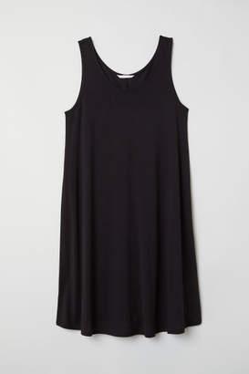 H&M A-line Jersey Dress - Black