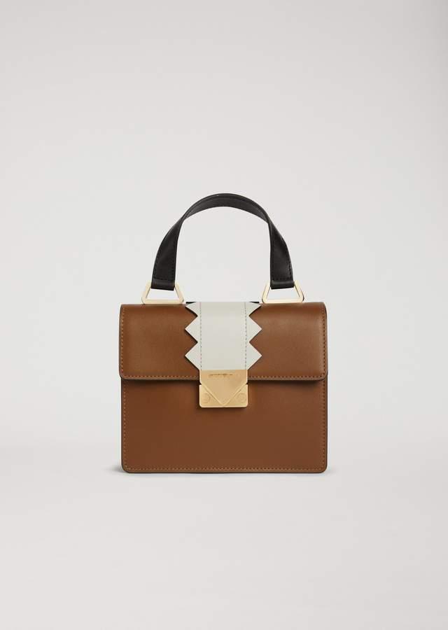 EMPORIO ARMANI mini bag with shaped detail