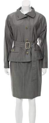 Max Mara Virgin Wool & Silk-Blend Skirt Suit