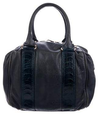 Pre Owned At Therealreal Balenciaga Leather Python Accented Handle Bag