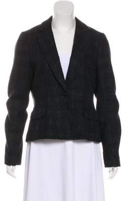 Theory Tweed Notch-Lapel Blazer