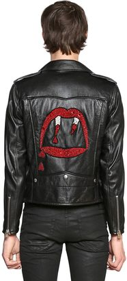 Blood Luster Leather Biker Jacket $5,490 thestylecure.com
