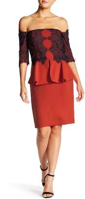 Issue New York Lace Trim Peplum Dress