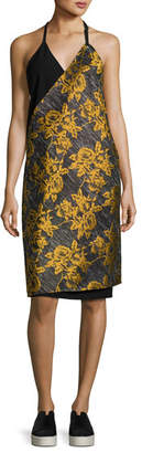 Public School Lonia Halter Neck Combo Midi Dress, Multipattern