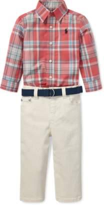 Ralph Lauren Poplin Shirt, Belt & Jean Set