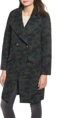 NVLT Brushed Wool Blend Camo Coat