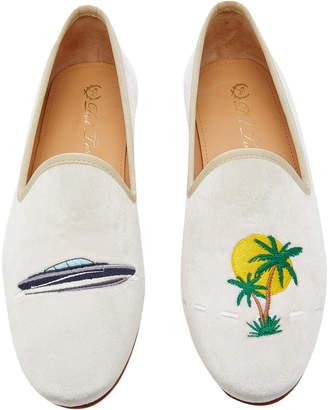 Del Toro x Moda Operandi Boat Day Velvet Loafers