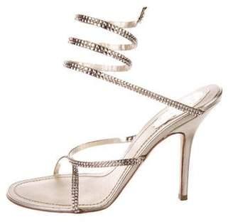 Rene Caovilla Embellished Wraparound Sandals