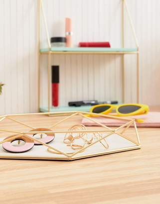 Umbra prism jewelry holder in gold